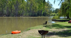 Murraybank Caravan Park Mathoura - Murray River views murray_river_view