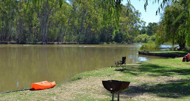 Murraybank Caravan Park Mathoura - Murray River views murray_river_view
